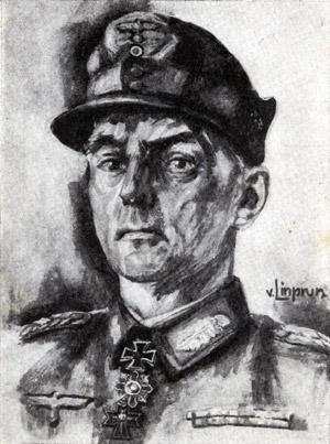 Feldpostkarte Linprun; Ritterkreuzträger; Person: unbekannt