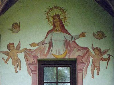 """""""Patrona Bavariae"""" Fresko, München; Foto: Franz Kerscher"""